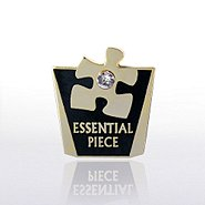 Lapel Pin - Essential Piece w/ Gem