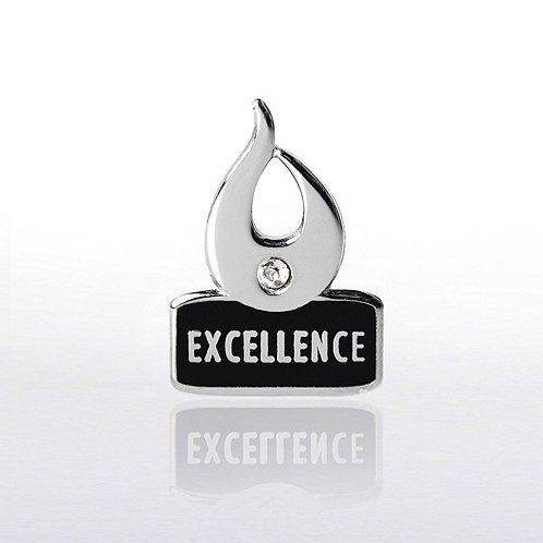Flame Excellence w/ Gem Lapel Pin