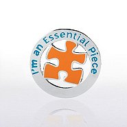 Lapel Pin - I'm an Essential Piece - Round