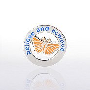 Lapel Pin - Butterfly: Believe and Achieve