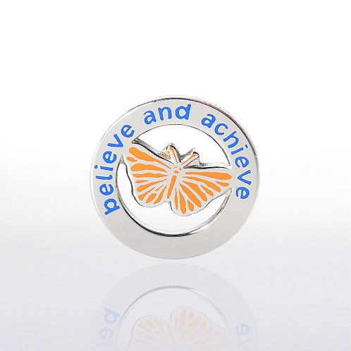 Butterfly: Believe and Achieve Lapel Pin