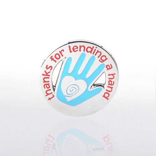 Hand: Thanks for Lending a Hand Lapel Pin