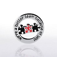 Lapel Pin - Better Team Round