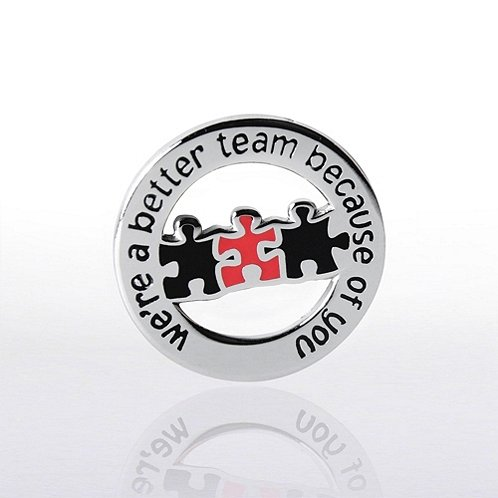 Better Team Round Lapel Pin