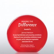 Tribute Trophy - Red Round