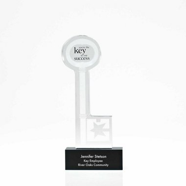 Desktop Acrylic Trophy - Key to Our Success