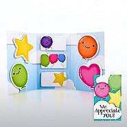 Tri-Fold Sticky Note Booklet - We Appreciate You Balloons