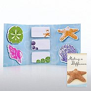 Tri-Fold Sticky Note Booklet - Starfish: Making a Difference