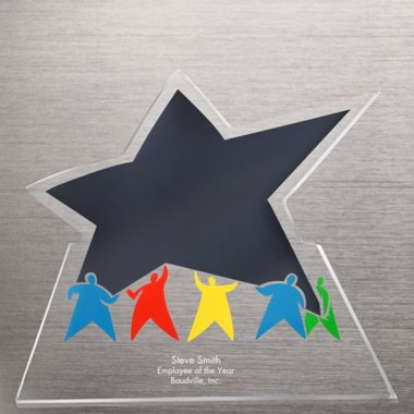 Acrylic Galaxy Trophy - Team Results Star