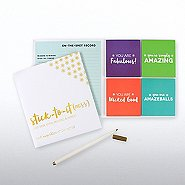 Foil Peel & Stick Recognition Note Set - Smart Sayings