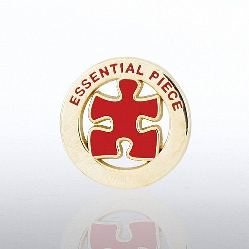 Essential Piece - Gold Round Lapel Pin