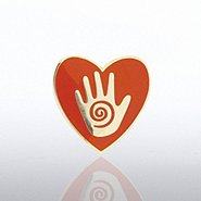 Lapel Pin - Helping Hand in Heart