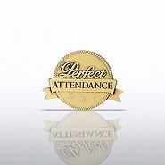 Lapel Pin - Perfect Attendance - Ribbon