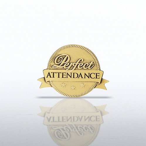Perfect Attendance - Ribbon Lapel Pin