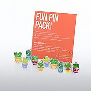 Fun Pin Pack - Cheerful Cacti