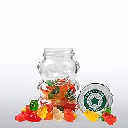 Glass Gummy Bear Jar - You're Officially Awesome!