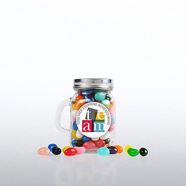 Mini Glass Candy Mason Jar - TEAM
