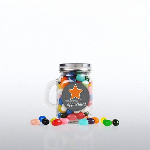 You Are Truly Appreciated Mini Glass Candy Mason Jar