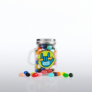 Mini Glass Candy Mason Jar - Teachers Rule