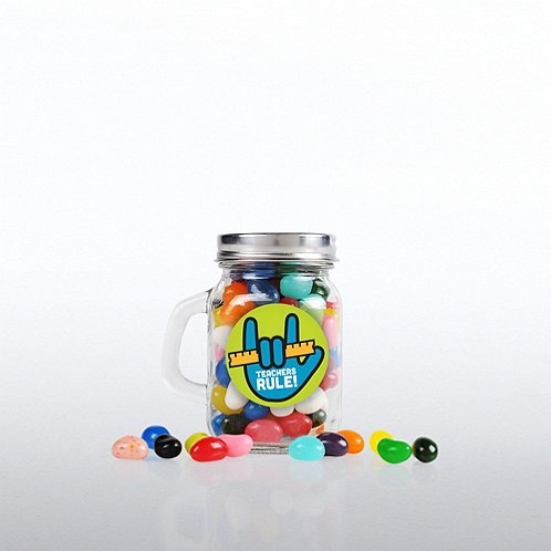Teachers Rule Mini Glass Candy Mason Jar