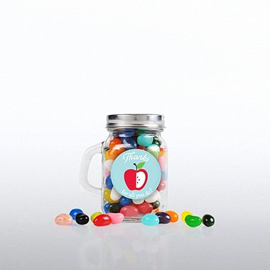 Mini Glass Candy Mason Jar - Education: Thanks for all