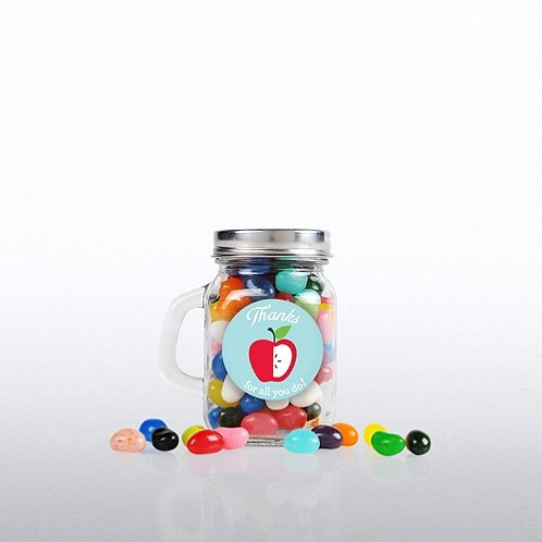 Education: Thanks for all Mini Glass Candy Mason Jar