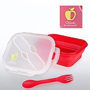 Lunch Container w/ Silverware - Apple: Thanks for All You Do