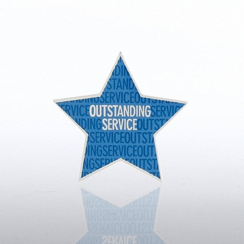 Outstanding Service Star Lapel Pin