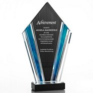 Elite Acrylic Art Deco Trophy in Sapphire Wave