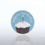 Lapel Pin - Happy Birthday Cupcake