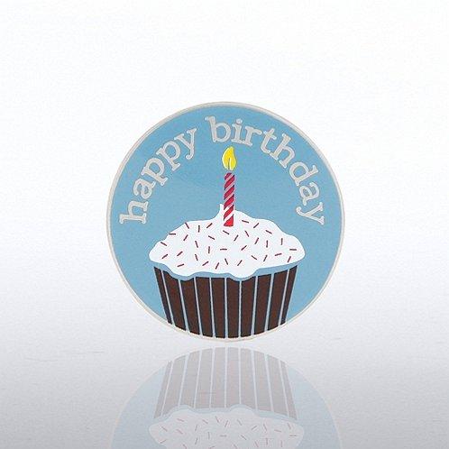 Happy Birthday Cupcake Lapel Pin