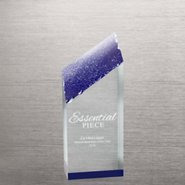 Acrylic Color Reflection Glacier Trophy - Medium Blue