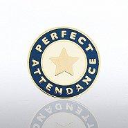 Lapel Pin - Perfect Attendance Star