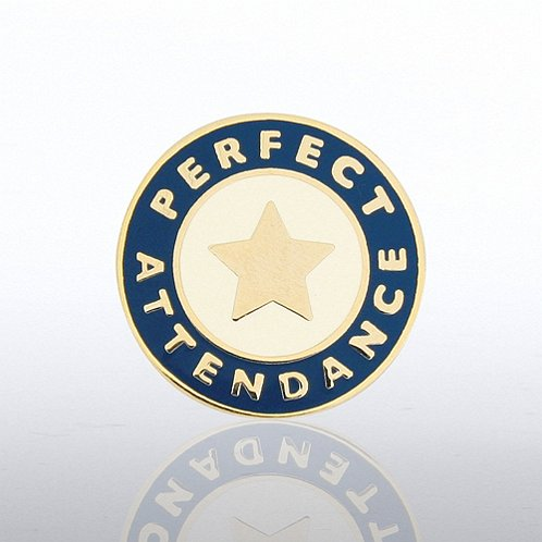 Perfect Attendance Star Lapel Pin