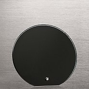 Round Glass Award Character Plaque - Black