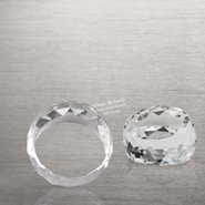 Beveled Circle Crystal Collection - Round Paperwieght
