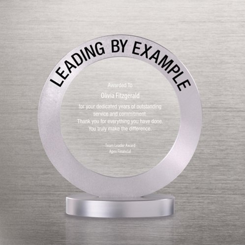 Leading by Example Radiant Ring Trophy