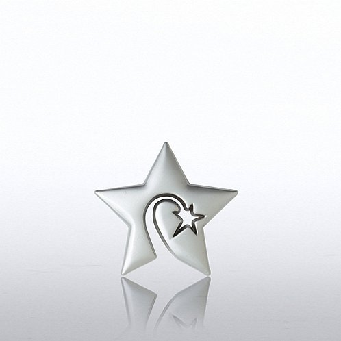 Swirly Star Lapel Pin