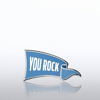 Lapel Pin - You Rock Banner