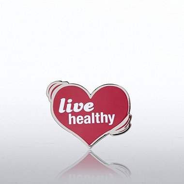 Lapel Pin - Live Healthy Heart