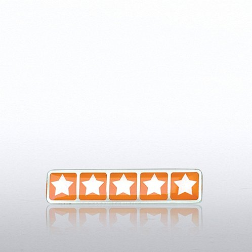 Five Star Rating Lapel Pin
