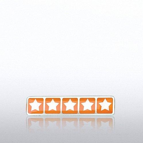 Five Star Rating Lapel Pin