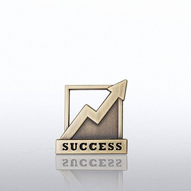 Lapel Pin - Success Graph