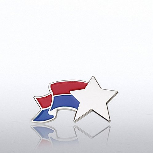 Star Sparkle Banner Lapel Pin