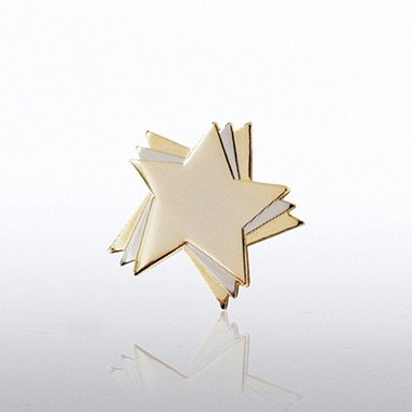 Lapel Pin - Duo Tone Stars