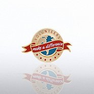 Lapel Pin - Volunteers Make a Difference