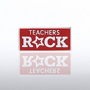 Lapel Pin - Teachers Rock Square