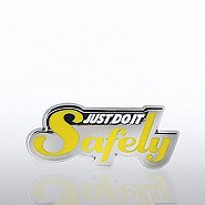 Lapel Pin - Just Do It Safely