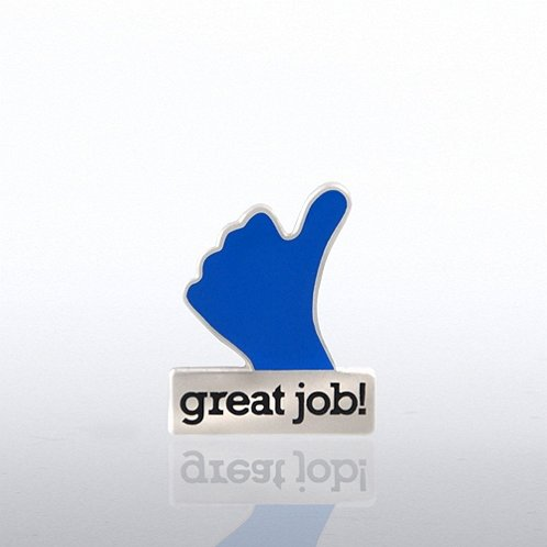 Great Job Hand Lapel Pin