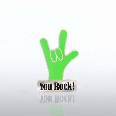 Lapel Pin - You Rock Hand